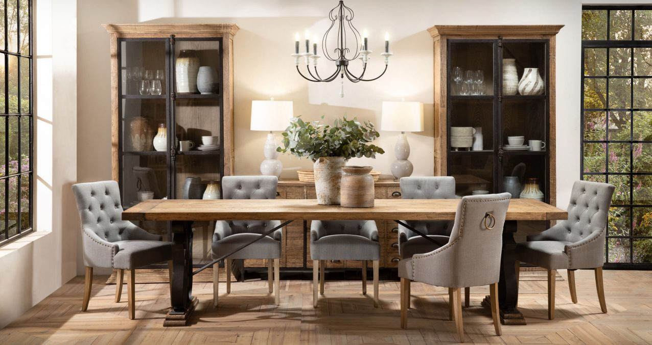 Block and chisel dining chairs