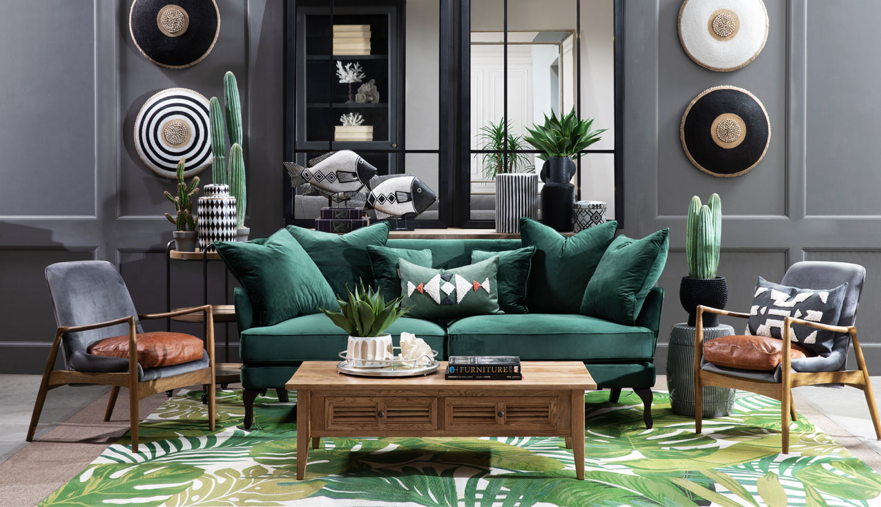 Monroe sofa in emerald green shop the look