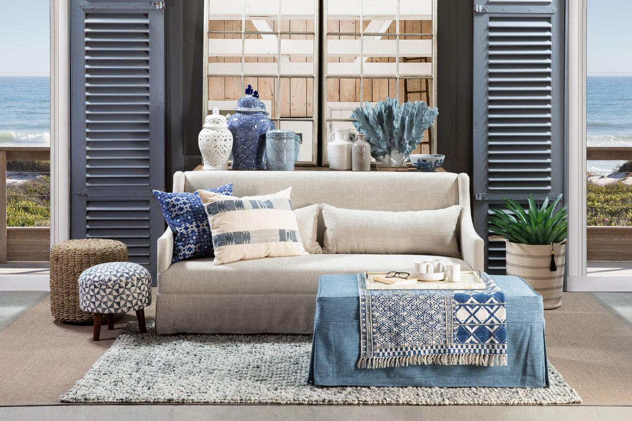 shop the look naples sofa in linen