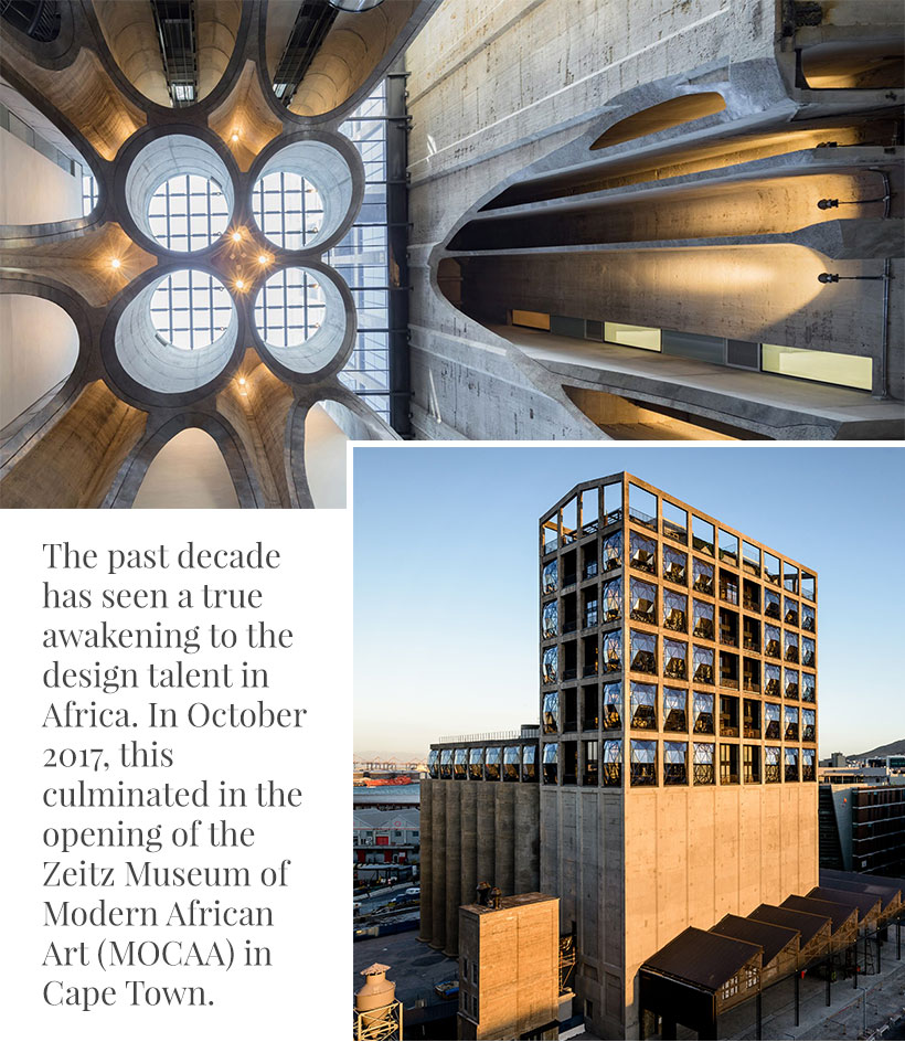 """In 2017, this culminated in the opening of the Zeitz Museum of Modern African Art (MOCAA) in Cape Town in October of that year"