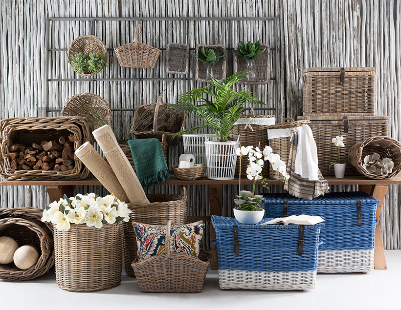 Baskets to help declutter your home