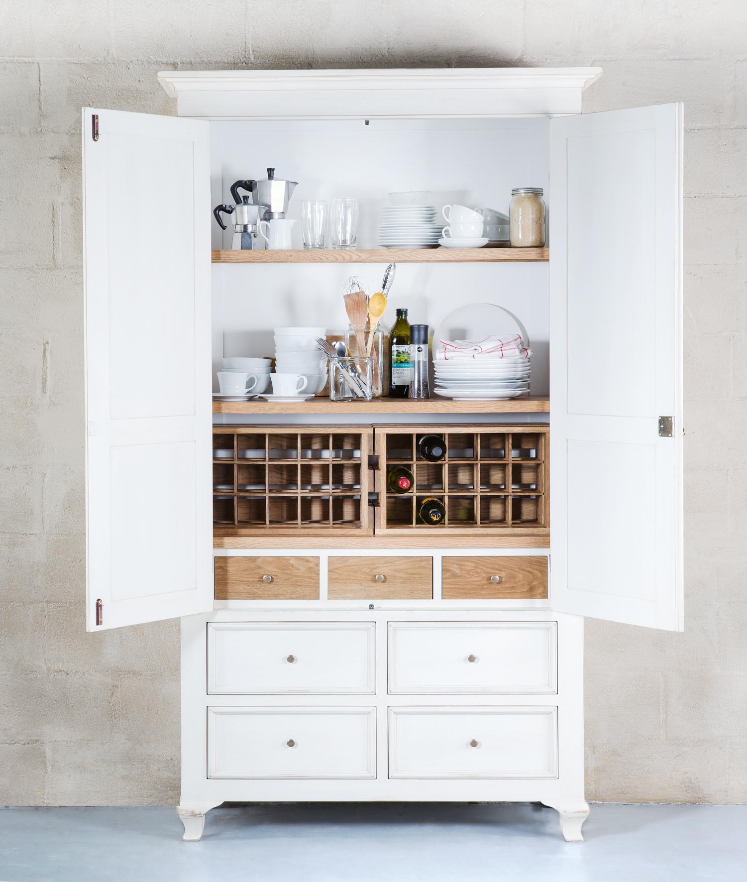 Block & Chisel Antique White utility cupboard