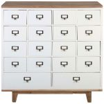 Block & Chisel white fir wood chest of drawers
