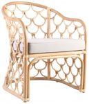 Block & Chisel rattan lounge chair