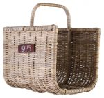 Block & Chisel kubu rattan log basket