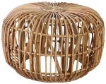 Block & Chisel round jawit rattan side table