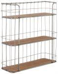 Block & Chisel 3-tier iron wall shelf with fir wood shelves