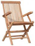 Block & Chisel teak wood folding slats armchair