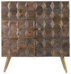 Block & Chisel mango wood sideboard with tapered metal legs