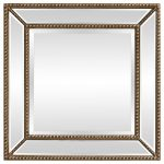 Block & Chisel square mirror with wooden frame