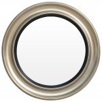 Block & Chisel round wooden frame with black and gold finish
