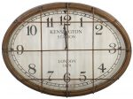 Block & Chisel oval clock with iron and glass front
