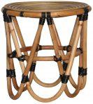 Block & Chisel round rattan stool
