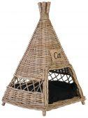 Block & Chisel kubu rattan tipi pet basket with cushion