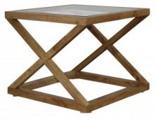 Block & Chisel glass top side table