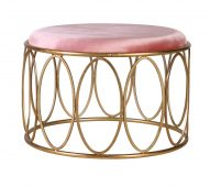 block & chisel pink and gold stool