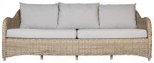 Block & Chisel rattan 3.5 seater outdoor sofa