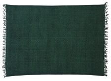 Block & Chisel green cotton printed rug