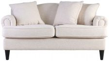 Block & Chisel beige upholstered 3 seater sofa