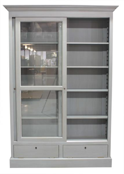 Ecs Glass Fronted Sliding Bookcase Block Amp Chisel