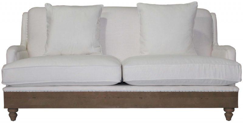 BRIGHTON SOFA. Block U0026 Chisel White Linen Upholstered ...