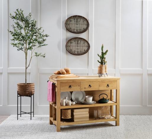 Block & Chisel rectangular solid oak wood breadboard