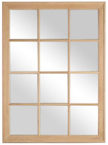 Block & Chisel rectangular oak frame mirror