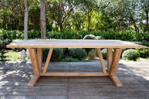 Block & Chisel rectangular recycled teak dining table