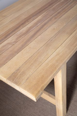 Block and chisel outdoor dining table