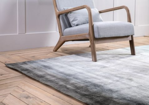 Block & Chisel multi-coloured jade viscose rug