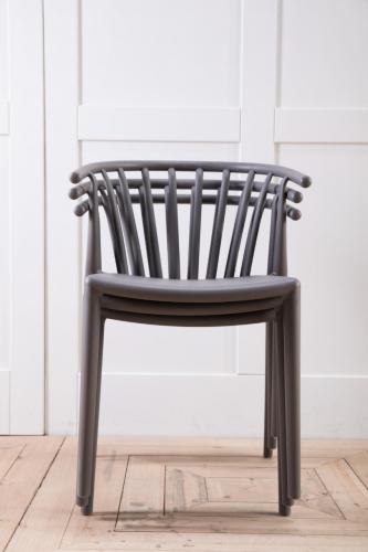 matt black horseshoe back outdoor dining chair