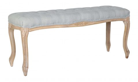 Tufted bed end, light grey in colour
