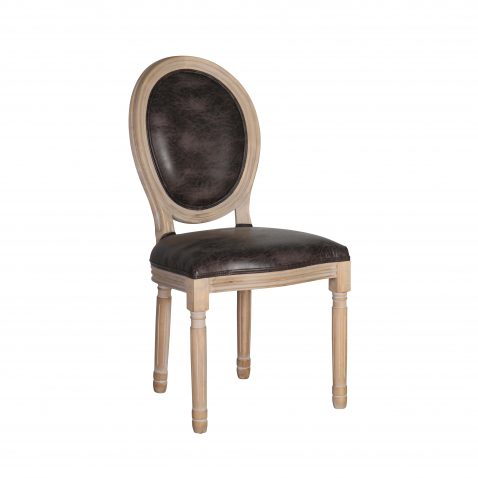 Block & Chisel brown upholstered spa back dining chair