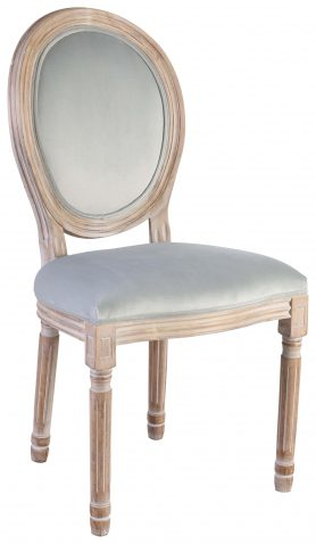 Block & Chisel duck egg blue velvet upholstered spa back dining chair