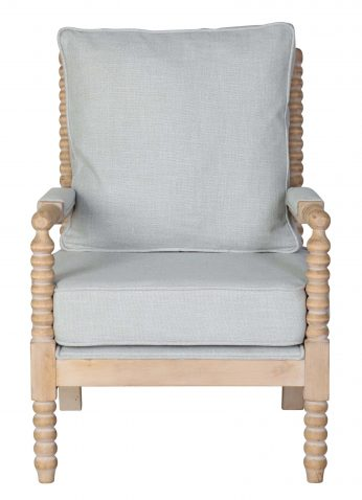 Grey cushioned bun detailing occasional chair