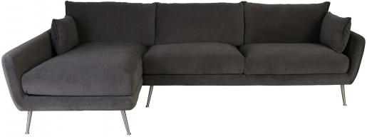 Block & Chisel brown velvet upholstered sofa with metal legs