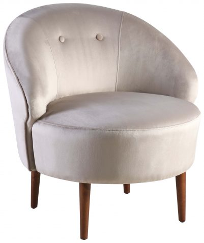 Block & Chisel champagne velvet upholstered tub chair