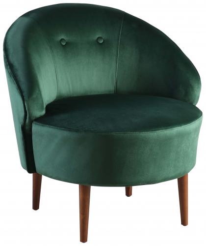 Block & Chisel green velvet upholstered tub chair