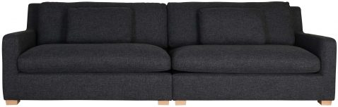 Block & Chisel grey upholstered 4 seater sofa