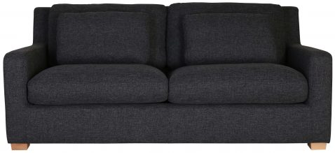 Block & Chisel grey upholstered 2 seater sofa