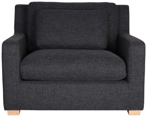 Block & Chisel grey mission upholstered armchair