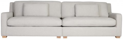 Block & Chisel cream upholstered 4 seater sofa