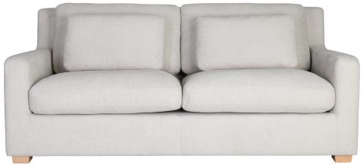 Block & Chisel cream upholstered 2 seater sofa