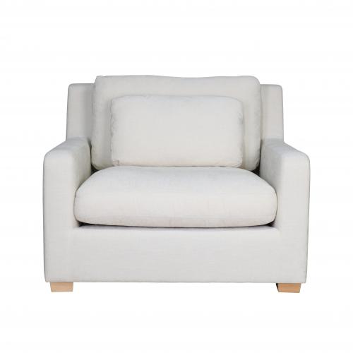 modern 1.5 seater chair in cream
