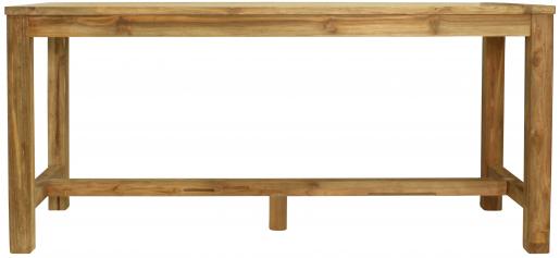 Block & Chisel rectangular reclaimed teak wood bar table