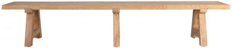 Block & Chisel rectangular outdoor wooden bench with slated top