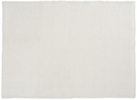Block & Chisel white wool rug with white trim
