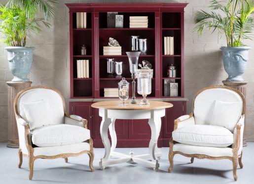 Block & Chisel artichoke breakfront bookcase