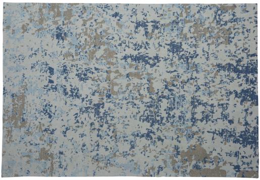 Block & Chisel beige and blue printed rug