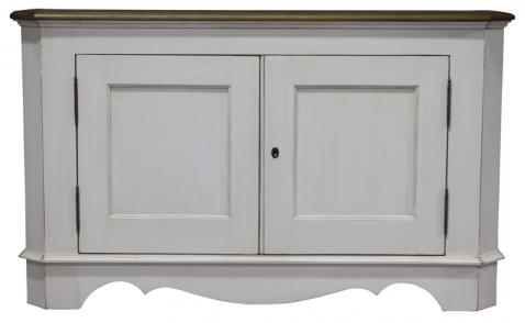 Block & Chisel antique weathered oak cupboard with antique white base